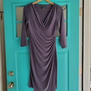 Lauren Ralph Lauren grey cocktail dress